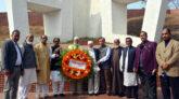বঙ্গবন্ধুর ম্যুরালে শ্রদ্ধা নিবেদন করলো মহানগর আ'লীগ উপদেষ্টা পরিষদ